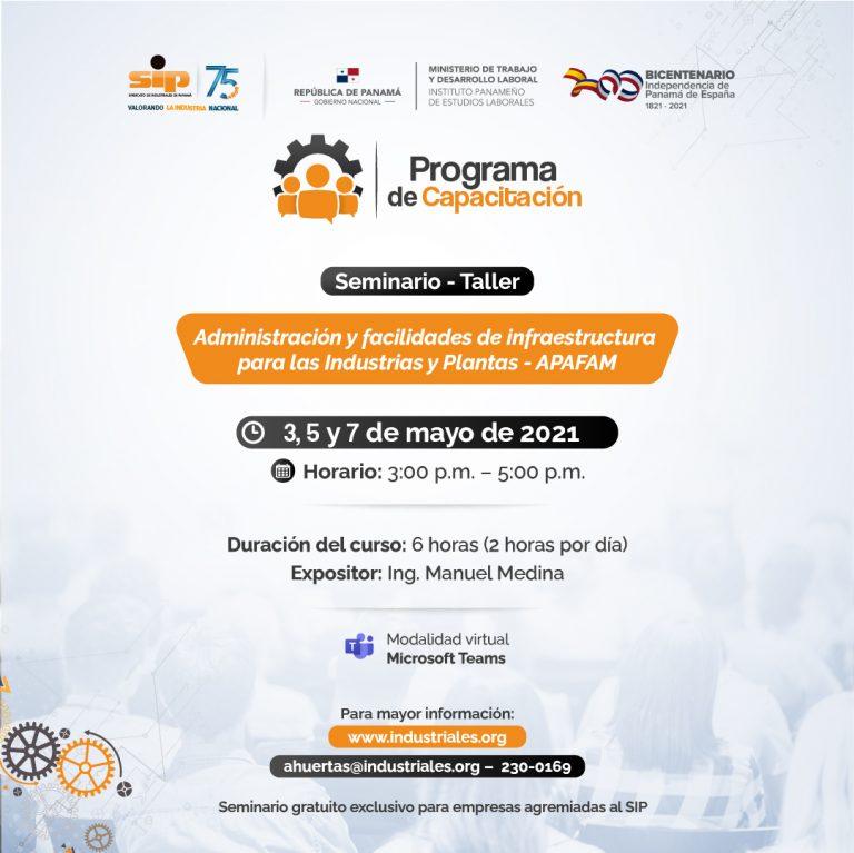 Programa de Capacitación Administración y facilidades de infraestructura para las industrias y plantas